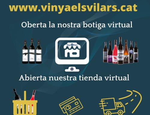 Vinya els Vilars obre la seva botiga online